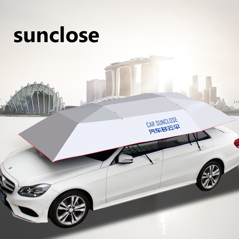 Sunproof awning for cars sun visor sedan car cover outdoor camping tent with pole