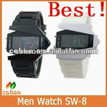 2013 best sports watches for men.Hottest selling led silicone men watch with promotional price.1-3ATM waterproof