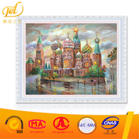 Wholesale Factory Price Modern City Landscape Pattern Diy Oil Painting By Numbers For Wall Art