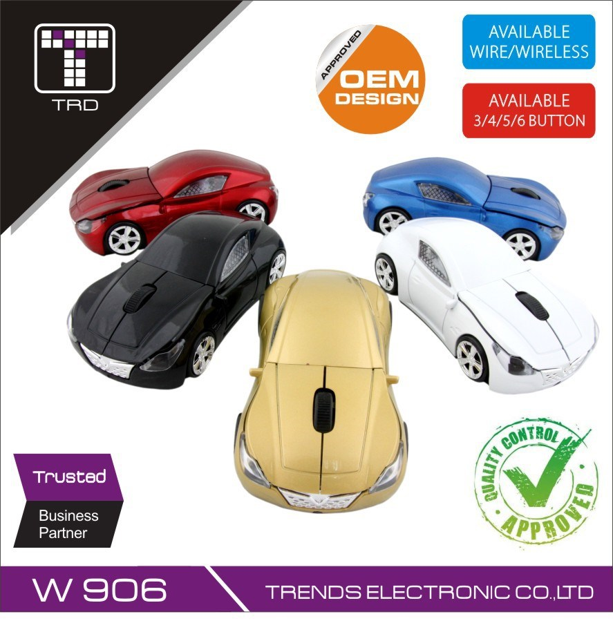Fashion Sport Car Shape Wireless Mouse 2.4Ghz Optical Mouse Computer Mouse