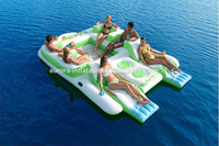2015 Best funny Inflatable Floating sofa, inflatable island for water games