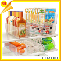 WFZ423798 Durable 6 Piece Stackable Bin Fridge Freezer Refrigerator Organizer