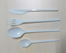cheapest disposable eco-friendly plastic cutlery tableware 16.5cm spoon fork knives each item100pcs/bag