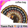 yason hot heat sealed coffee bags with sides gusset and valve instant coffee bean packing sachets green coffee sachet