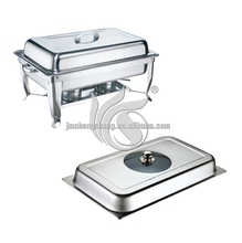 Economy Glass Visual Lid Stainless Steel Cheap Chafing Dish