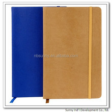 PU leather cover A5 size notebook