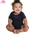 Toddler Baby Clothing 95% Cotton Onesie Short Sleeve boy or girl Plain Navy Newborn Baby Clothes Romper