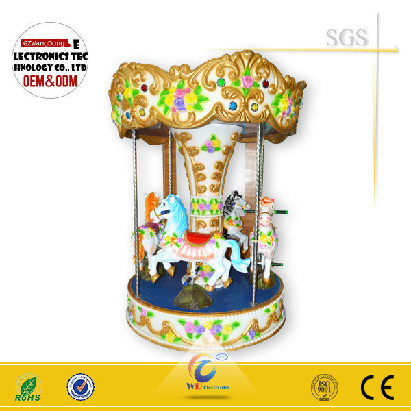 WD-A17 Rotary Angel carousel /electric kids coin operated mini amusement kiddy ride