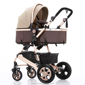 High landscape foldable See baby stroller and reversible baby pram