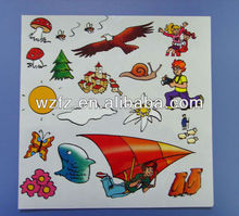 Funny fashionable nice rub-on scratching transfer stickers