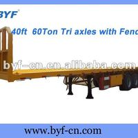 BYF 60Ton Doll Container Trailers With