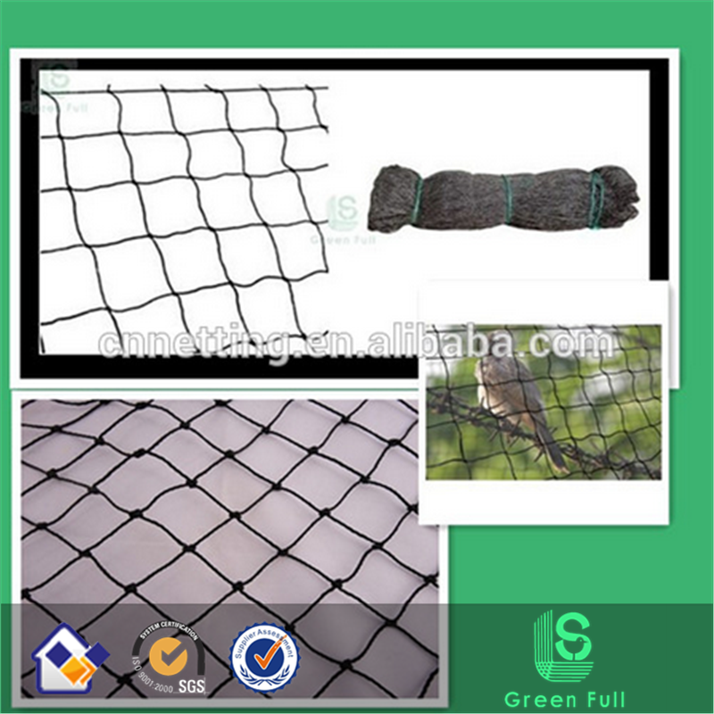 black knotted anti-bird net/hdpe+uv bird netting