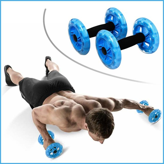 AB Wheel Roller Dynamic Strength & Ab Trainer - Best Fitness Workout for Abs