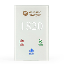 Customized White Crystal Glass Hotel Guest Room LED Doorplate with Room Number DND MUR