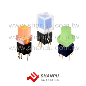 Taiwan Bi-Color LED Tact Push Button Switch for Audio Mixer Machine Illuminated Control Panel