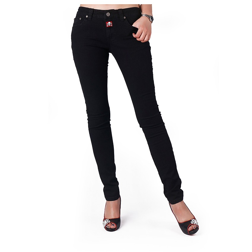 High quality guangzhou jeans market women embroidered jeans black jeans and woven trouser
