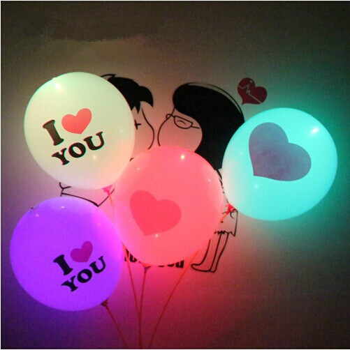 Beautiful I LOVE U reusable led inflatable balloon