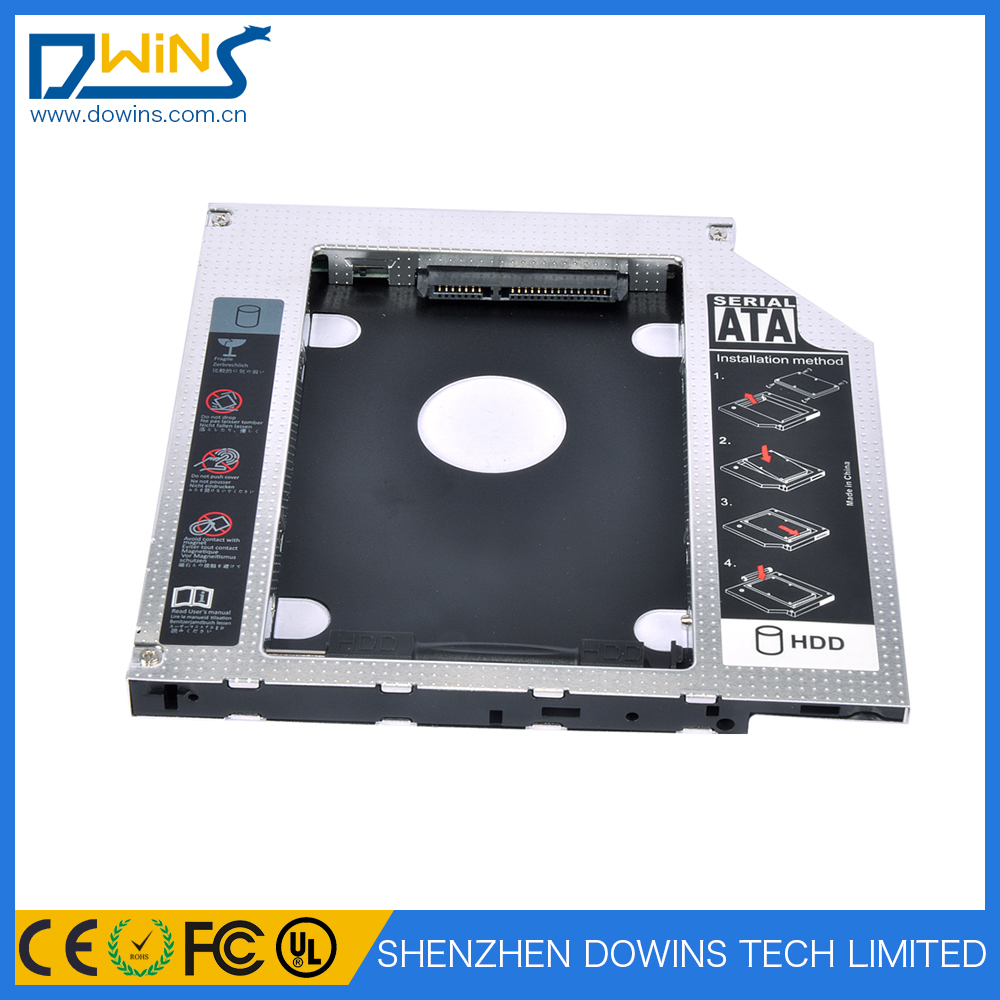 hard drive case sata to sata hdd case 2.5 2nd second hdd caddy 9.5 mm