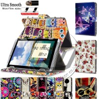 Universal Tablet Case 7 inch Fashion Printed Wallet Stand PU Leather Magnetic Flip Cover Case For BQ 7050G 7'