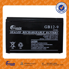 Standard lead acid battery 12v 9ah Rechargeable 20hr car Battery with best Price
