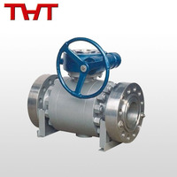 fixed gear operated ball valve with reliable sealing
