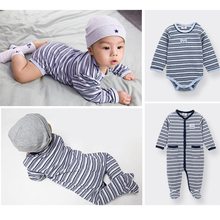 2017 Newborn Baby Clothes Striped Winter Cotton Wholesale Baby Clothes Romper
