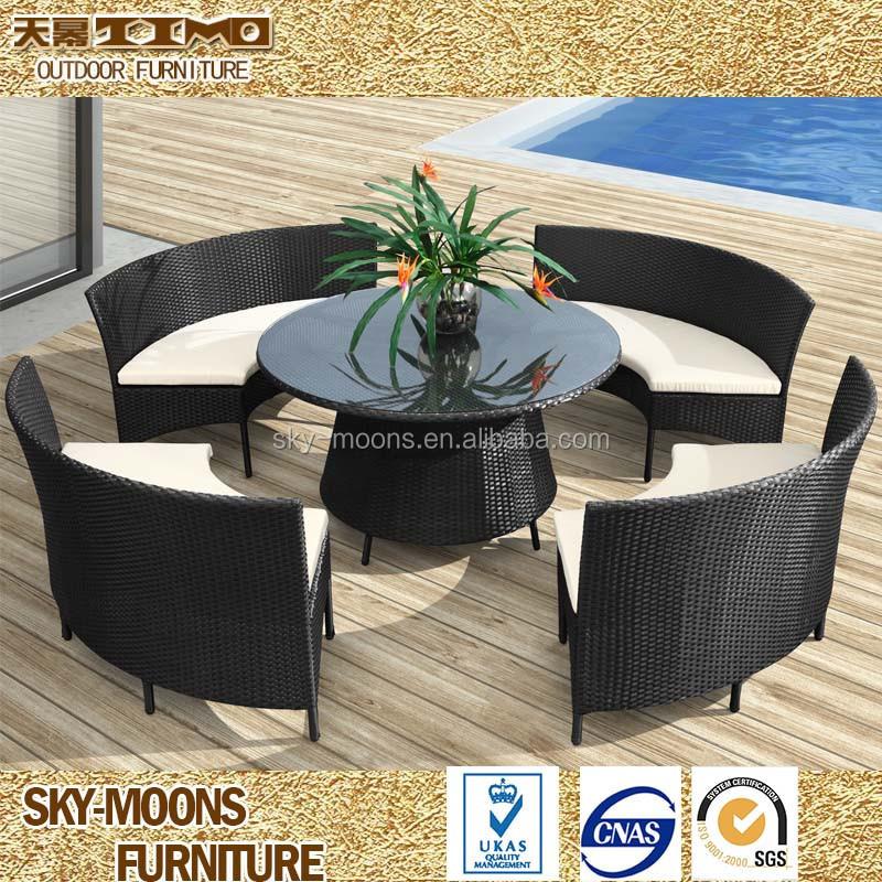 Rotin salle manger ensemble ronde pas cher ronde table - Ensemble table et chaise salle a manger pas cher ...