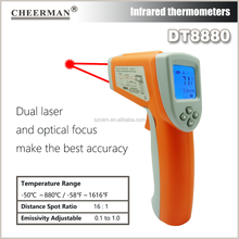 Cheerman infrared thermometer DT8880(-50-880 Degree) laser digital thermometer
