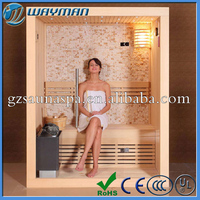 Wooden dry infrared sauna room sauna and steam combined room,sauna room