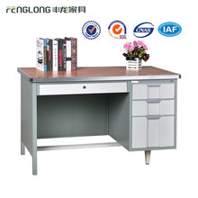 2017 standard knock down industrial metal study table with 3 drawers
