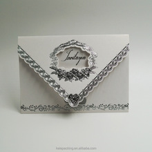 Hot stamping Sliver wholesale hotsale wedding party wedding invitation