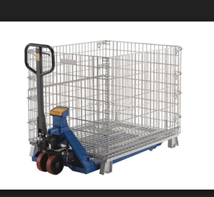Galvanized collapsible folding storage cages with castors