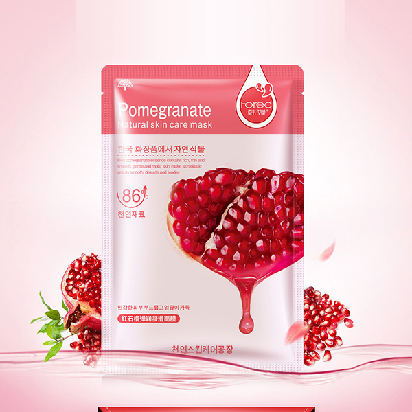 Natural Pomegranate Main Ingredient and Pomegranate Ingredient Facial Mask, aloe vera, blueberry, oliver and honey facial mask