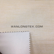 100% Polyester Linen Look 100cm-320cm blackout fabric for curtain