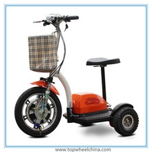 "3 wheel 16"" tire stable 500w 48v motor 30km/h electric scooter with pedals"
