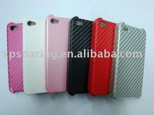 fiber carbone case back cover for iphone 4