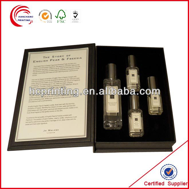 Fragrance cardboard box with foam insert