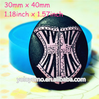 CYL085 Big Bustier/Lingerie/Corset Silicone Mold Decoration Mold Polymer Clay Charms (Clay Fimo Resin Wax Epoxy Paste Fondant)