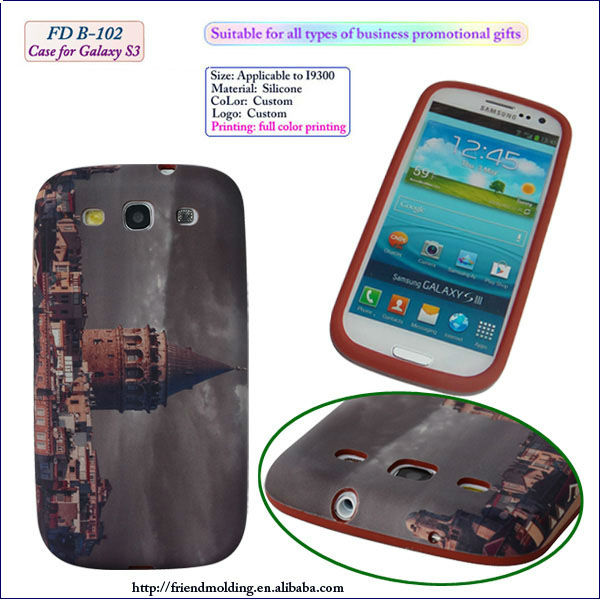 Full color printing silicone phone case for samsung galaxy S3 I9300