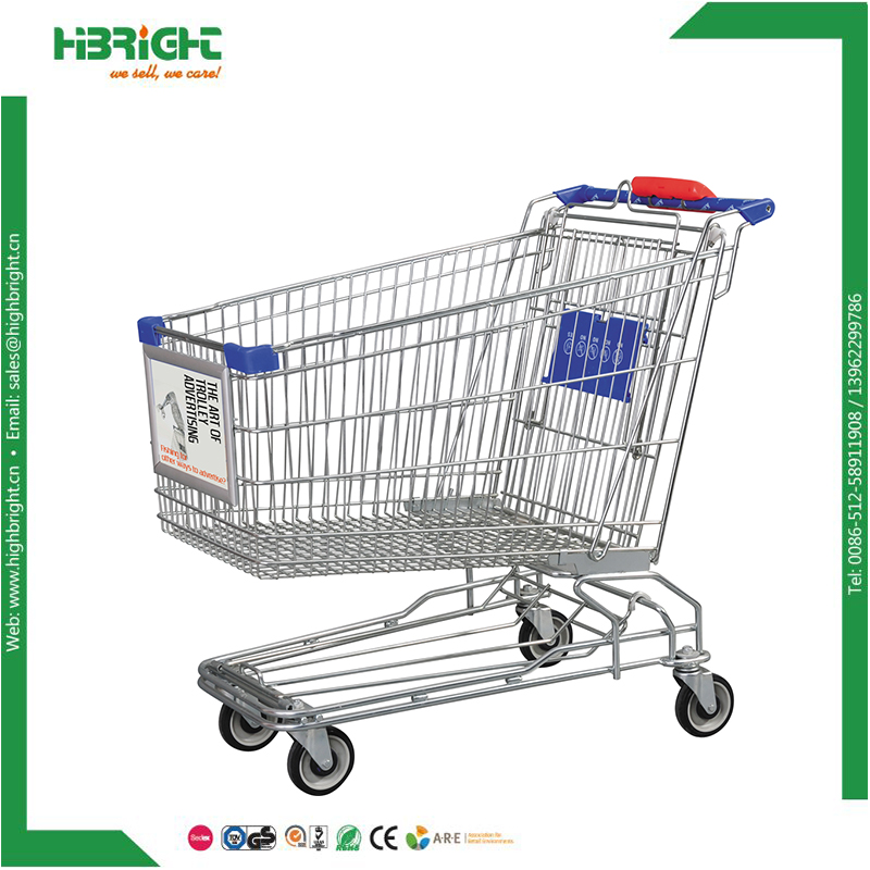 supermarket trolley with advertisement board for sale