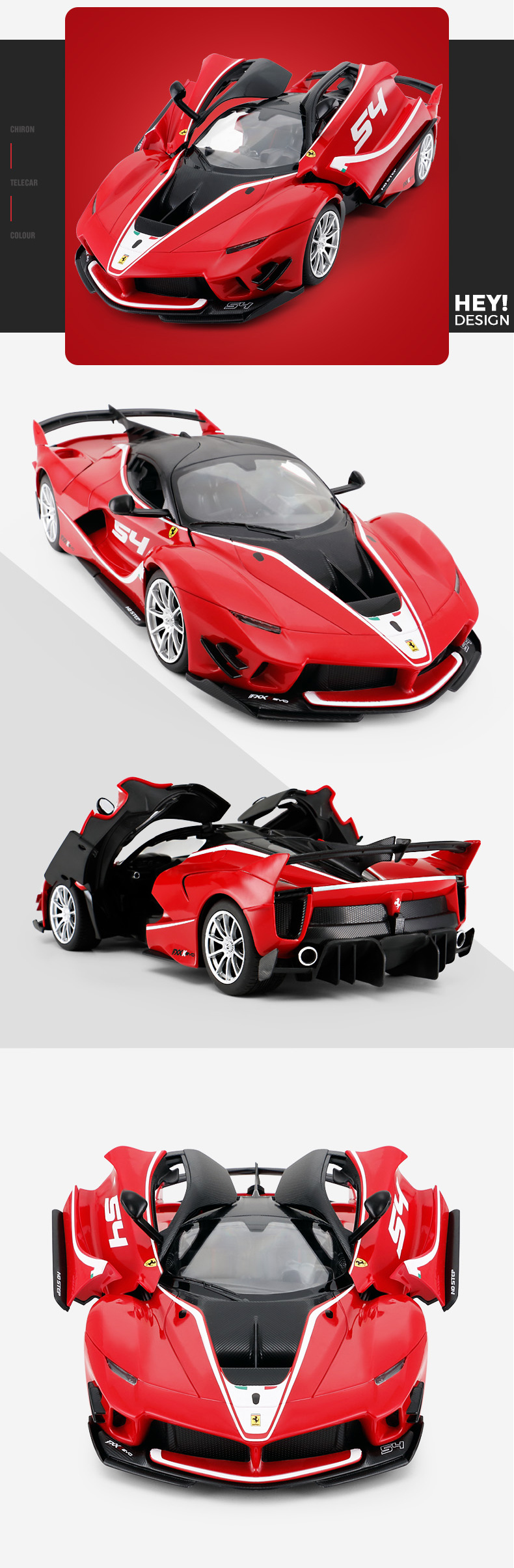 RASTAR 2019 new electric toy Ferrari plastic red rc car with shock absorber
