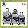 2015 New Design Butterfly ABS PC Trolley Luggage/Bag/Cabin Case ABS Luggage Set
