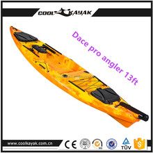13ft wholesale plastic fishing Portable Kayak / single Person / Recreational Boat