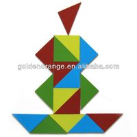 Isosceles Triangle Piece Tangram Magnet Education Toy