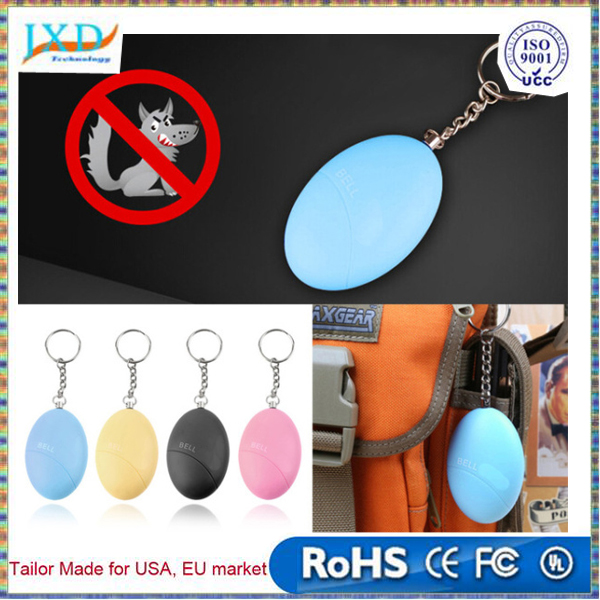 New Egg Shape Self-Defence Alarm Protect Women Girl Alarm Scream Loud Anti-Attack