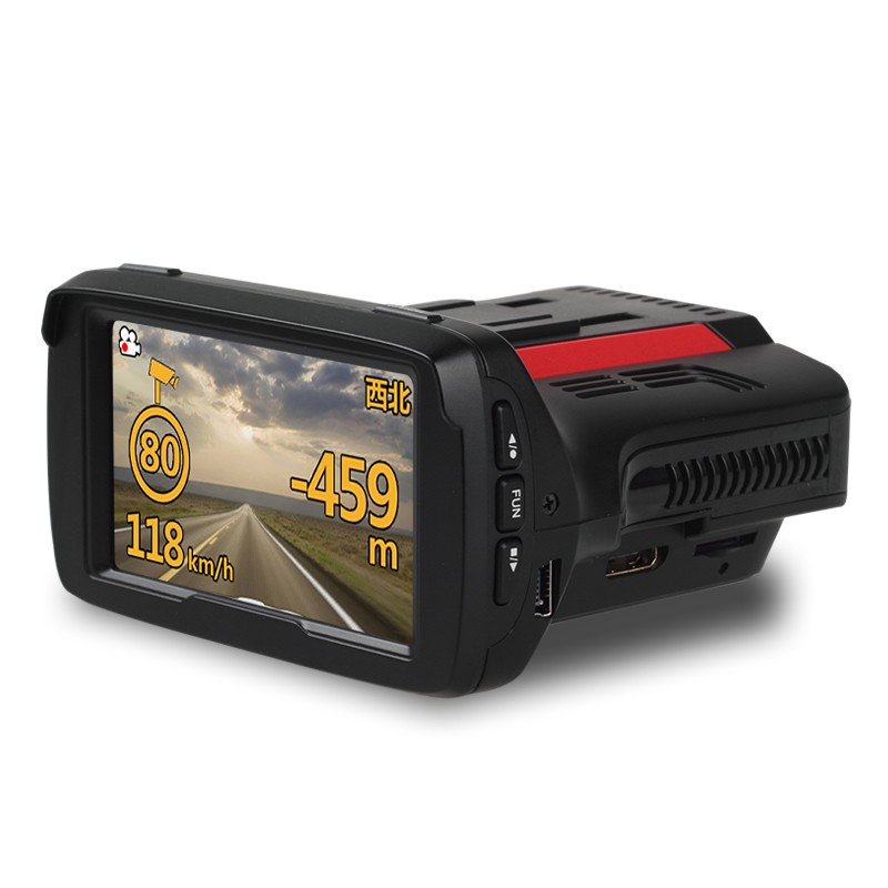 2K Recording Full HD 1296P Ambarella DVR Radar Detector 3 in 1 GPS Car DVR