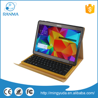 Wireless detrachable flip leather universal stand bluetooth keyboard case for samsung Tab S