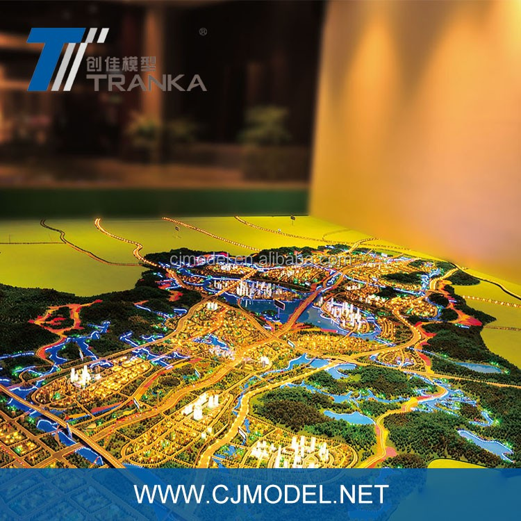 Big size holographic digital sand table model for urban planning