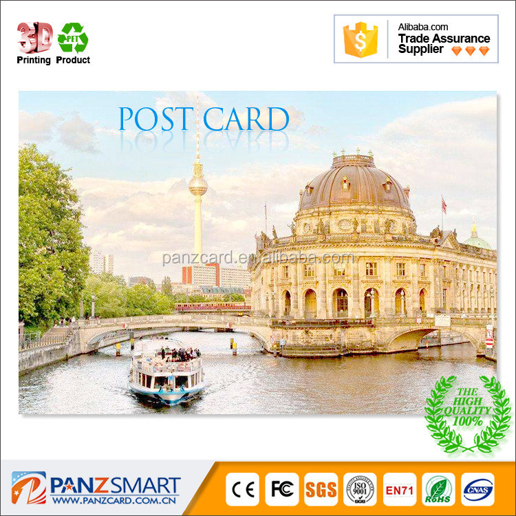 Promotion printing 3D lenticular Greeting Card Gift Card