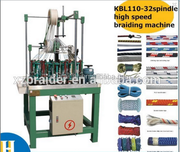 high speed 32 spindle round rope paracord /climbing rope/skipping rope braiding machine